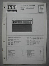 ITT/Schaub Lorenz Teddy automatic 103 Service Manual, K022