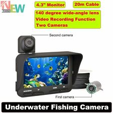 "20m 4.3"" LCD Night Vision Fish Finder Dual Camera DVR Video Underwater"
