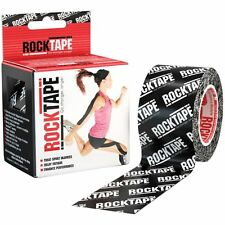 RockTape | Black Logo | 5cm x 5m | Kinesiology Sports Tape Physio CrossFit