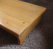 """Custom Color, 6"""" H, Handcrafted Heavy Duty Step Stool, 24"""" L, Wooden Bed Bedside"""