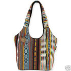 Catori Terra Noche Brown Black Bohemian Chic Scoop Shoulder Handbag Tote Bag New