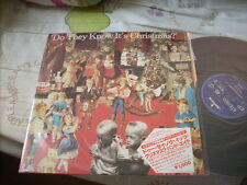 """a941981  12"""" LP Single EP Band Aid Do They Know It Is ( It's ) Christmas Made in Holland with Japanese Paper and Front Cover Label"""