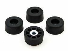4 LARGE TALL ROUND RUBBER FEET  .625 H X 1.250 D  AMPS, RADIO CASES - FREE S&H
