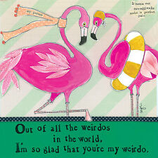 CURLY GIRL CARD: FLAMINGO FRIENDS POST DAILY + WORLDWIDE