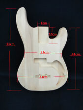 Full Size White Poplar Bass DIY Body + 3 Free picks