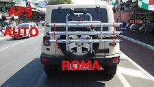 PORTABICI POSTERIORE 3 BINARI JEEP WRANGLER SAHARA 2012 OMOLOGATO MADE IN ITALY