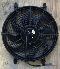 "14"" UNIVERSAL ELECTRIC RADIATOR COOLING FAN 12V REVERSIBLE PUSHER PULLER 1450CFM"