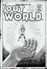 STEVE DITKO 1957 CHARLTON OUT OF THIS WORLD ORIGINAL COVER PROOF PRODUCTION ART