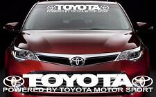 TOYOTA MOTOR SPORTS Graphic Windshield Vinyl Decal Sticker Custom Vehicle Logo
