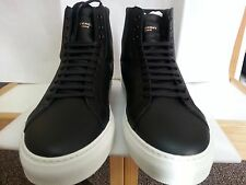 New Auth Givenchy Urban Street Knots Black Leather High Top Sneaker SZ 43/ US 10