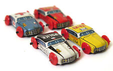 Vintage 4 petites voitures miniatures tinplate véhicules AMBULANCE TAXI Jouet Rétro JAPON