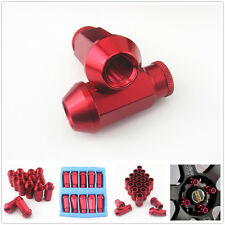 New 20 Pcs Red M12 x 1.5MM Wheels Screw Tuner Lug Nuts Kit Set For Acura Toyota