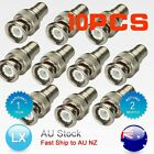 10x BNC MALE TO RCA PHONO FEMALE CONNECTOR ADAPTER FOR CCTV CAMERA VIDEO CABLE
