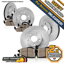 Front 350 mm and Rear 330 mm Brake Rotors + Ceramic Pads Kit CAYENNE TOUAREG Q7