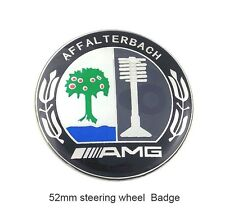 AMG steering wheel Emblem Badge Logo Sticker Decal 52mm Aluminum