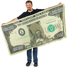 Million Dollar Bill Novelty Blanket, by Collections Etc