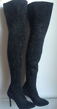 LAURENCE DACADE GLITTER STOCKING OTK THIGH HIGH BOOTS SIZE 36 US 6