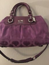 COACH MADISON Purple OP ART SIGNATURE C SMALL SABRINA BAG PURSE SATCHEL