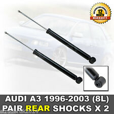 AUDI A3 1996-2003 REAR SHOCK ABSORBERS *CHASSIS 8L* NEW (PAIR) SHOCKS SHOCKERS