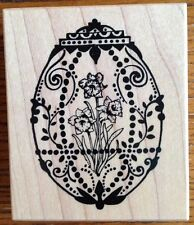 PSX Faberge Ornate Decorative Egg  Rubber Stamp G-1342 Daffodil Easter