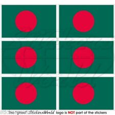 BANGLADESH Bangladeshi Flag Commonwealth 40mm Mobile Phone Stickers, Decals x6