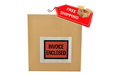 "4.5""x5.5"" Invoice Enclosed Slip Holders Packing List Padded Envelope 2000 Pouch"