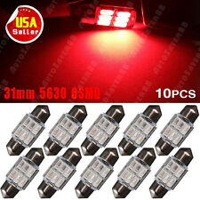 10PCS  Pure Red 31MM 5630 6-SMD LED for Car Interior Lisence Dome Map Light US