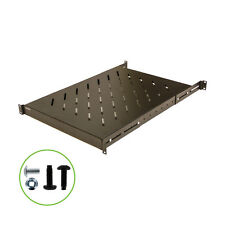 "Fixed Rack Server Shelf 1U 19"" 4 post Rack Mount - Adjustable from 25 - 30"""