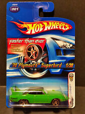 2006 Hot Wheels #001 First Editions 1/38 '70 Plymouth Superbird Green(FTE)-J3242