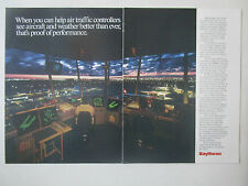 10/1991 PUB RAYTHEON AIR TRAFFIC CONTROLLERS DISPLAY ELECTRONICS ORIGINAL ADVERT