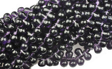 100 Deep Purple Czech Glass Tear Drop Beads 6MM