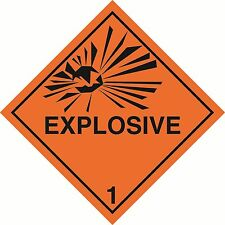 "Health and safety Hazard sticker Explosive sticker 5"" orange"