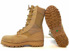 ROCKY 789 HOT WEATHER US MILITARY DESERT TAN COMBAT BOOTS 9.5R 9 1/2 REGULAR