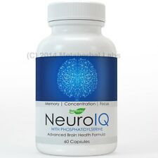 NeuroIQ Advanced Factor Brain Health Pills For Memory, Concentration, and Focus