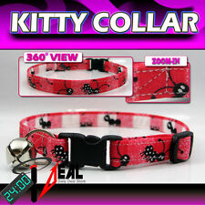 Breakaway SAFETY CAT Collar * Charms Ants on Red *