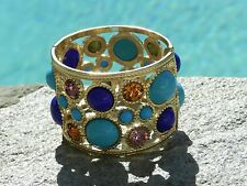 KENNETH JAY LANE Cutout Circle Multicolor Cuff / Bracelet