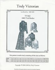 Schnittmuster Truly Victorian TV 462: 1883 Tail Bodice