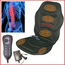 Back Massage Seat Cushion Touch Pad Control Vibrating Heating AC DC Adaptor