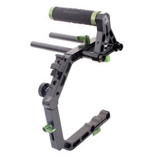 LanParte Top Handle Grip+C-shape Cage C Arm Support DSLR Camera Rig 15MM Rods