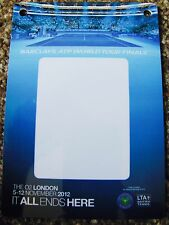 ATP WORLD TOUR FINALS 2012 WORKING BACKSTAGE LAMINATE PASS ANDY MURREY