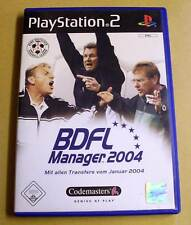 PlayStation 2-bdfl Manager 2004 (futbol soccer) completo alemán ps2