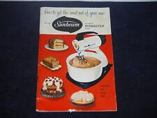 Vintage Sunbeam Automatic Mixmaster Mixer Instruction and recipe box