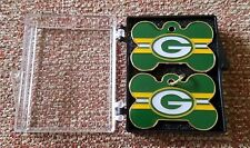 """GREEN BAY PACKERS """"DOG TAG AND LAPEL PIN"""" 2-PIECE SET - Hers & His or your DOG"""