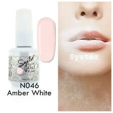 SYSTER 15ml Nail Art Soak Off Color UV Lamp Gel Polish N046 - Amber White