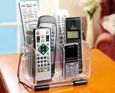 New TV Remote Control Phone Glasses Organiser Storage Box Clear Stand Holder UK