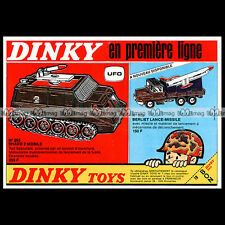 DINKY TOYS 1972 UFO SHADO MOBILE 353 BERLIET MISSILLE LAUNCHER 620 Pub Ad #B321