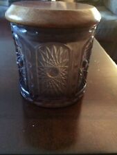 Pipe Tobacco Jar with Smoked Glass Made By Abbey Cigar Products  New in Box