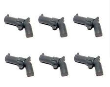 Lego 6 X Gris Pistola Revolver Blaster Para Minifiguras Nuevo Western Cowboy Nuevo