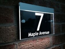 A5 Size LED House Number Built in Dusk till Dawn Sensor The Best & The Brightest
