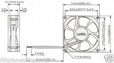 Fonsan DFB0812L, 80mm Case fan, 2 wire, 7~13.8V Volts DC, 0.96 watts